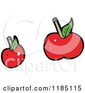 Cartoon Of Cherries Royalty Free Vector Illustration