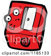 Cartoon Of A Cassette Player Royalty Free Vector Illustration