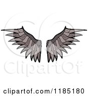 Cartoon Of Bird Wings Royalty Free Vector Illustration by lineartestpilot