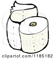 Cartoon Of A Roll Of Toilet Paper Royalty Free Vector Illustration by lineartestpilot