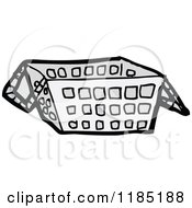 Cartoon Of A Shopping Basket Royalty Free Vector Illustration by lineartestpilot