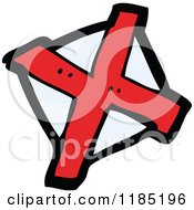Cartoon Of A Red X Royalty Free Vector Illustration
