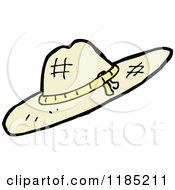 Cartoon Of A Ladies Sun Bonnet Royalty Free Vector Illustration