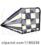 Cartoon Of A Checkboard Royalty Free Vector Illustration