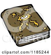 Cartoon Of A Book Of Spells Royalty Free Vector Illustration
