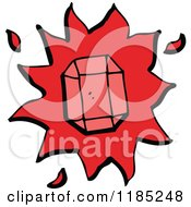 Cartoon Of A Red Gemstone Royalty Free Vector Illustration by lineartestpilot