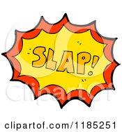 Cartoon Of The Word Slap Royalty Free Vector Illustration