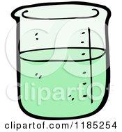 Cartoon Of A Labratory Beaker With Liquid Royalty Free Vector Illustration