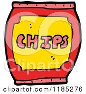 Cartoon Of A Chip Barrel Royalty Free Vector Illustration