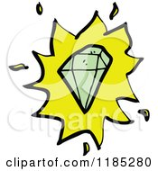 Cartoon Of A Gemstone Royalty Free Vector Illustration by lineartestpilot