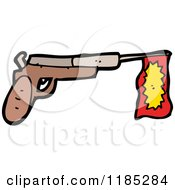 Cartoon Of A Toy Gun Royalty Free Vector Illustration by lineartestpilot