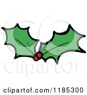 Cartoon Of Christmas Holly Leaves And Berries Royalty Free Vector Illustration