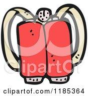 Cartoon Of A Jetpack Royalty Free Vector Illustration