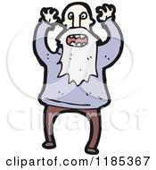 Cartoon Of An Elderly Man Yelling Royalty Free Vector Illustration