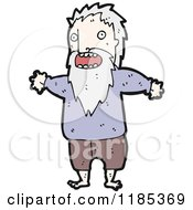 Cartoon Of A Homeless Man Royalty Free Vector Illustration