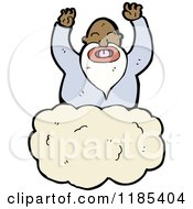 Cartoon Of An African American God In The Heavens Royalty Free Vector Illustration by lineartestpilot