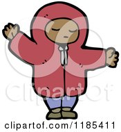 Cartoon Of A Child Wearing A Hoodie Royalty Free Vector Illustration