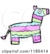 Cartoon Of A Mexican Pinata Royalty Free Vector Illustration by lineartestpilot