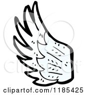 Cartoon Of A Bird Wing Royalty Free Vector Illustration by lineartestpilot