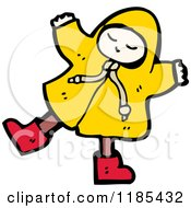 Cartoon Of A Child Wearing A Raincoat Royalty Free Vector Illustration