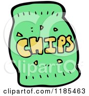 Cartoon Of A Bag Of Chips Royalty Free Vector Illustration