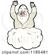 Cartoon Of A God In The Clouds Royalty Free Vector Illustration by lineartestpilot