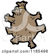 Cartoon Of A Microbe Royalty Free Vector Illustration