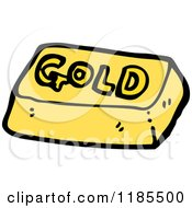 Cartoon Of A Gold Bar Royalty Free Vector Illustration by lineartestpilot