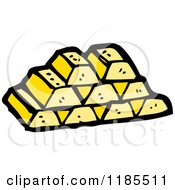 Cartoon Of A Stack Of Gold Bars Royalty Free Vector Illustration