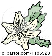 Clipart Of A Wildflower Royalty Free Vector Illustration