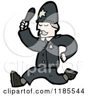 Cartoon Of A Policeman Royalty Free Vector Illustration by lineartestpilot