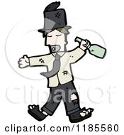 Cartoon Of A Drunk Man Royalty Free Vector Illustration