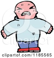 Cartoon Of A Very Angry Man Royalty Free Vector Illustration