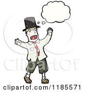 Cartoon Of A Hobo Thinking Royalty Free Vector Illustration