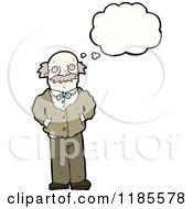 Cartoon Of A Balding Man Thinking Royalty Free Vector Illustration