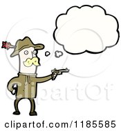 Cartoon Of An Indian Fighter Thinking Royalty Free Vector Illustration by lineartestpilot