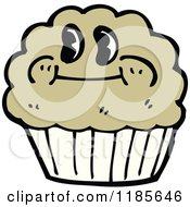 Cartoon Of A Muffin With A Face Royalty Free Vector Illustration by lineartestpilot #COLLC1185646-0180