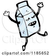 Cartoon Of A Dancing Milk Carton Royalty Free Vector Illustration