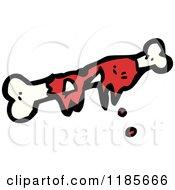 Cartoon Of A Fleshy Bone Royalty Free Vector Illustration