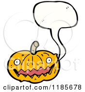 Cartoon Of A Jack O Lantern Speaking Royalty Free Vector Illustration