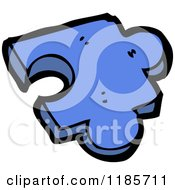 Poster, Art Print Of Blue Puzzle Piece