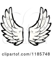 Cartoon Of A Pair Of Wings Royalty Free Vector Illustration by lineartestpilot