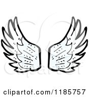 Cartoon Of Wings Royalty Free Vector Illustration by lineartestpilot