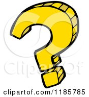 Cartoon Of A Question Mark Royalty Free Vector Illustration by lineartestpilot