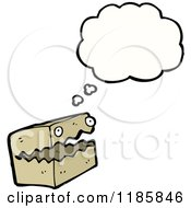 Cartoon Of A Box With A Face Thinking Royalty Free Vector Illustration