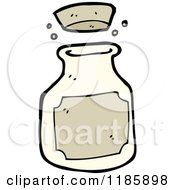 Cartoon Of A Bottle With A Cork Lid Royalty Free Vector Illustration