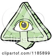 Cartoon Of A Mystic All Seeing Eye Royalty Free Vector Illustration