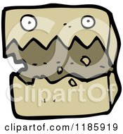 Cartoon Of A Cardboard Box With A Face Royalty Free Vector Illustration