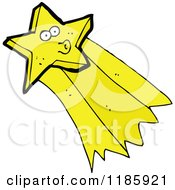 Cartoon Of A Shooting Star Whistling Royalty Free Vector Illustration