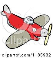 Cartoon Of A Prop Plane Royalty Free Vector Illustration